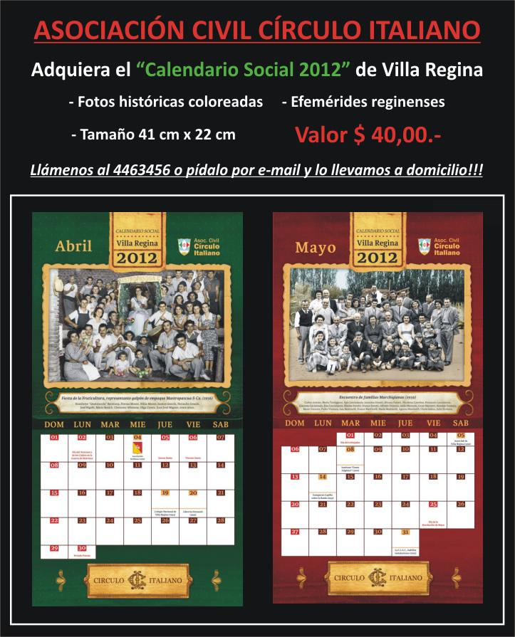 Calendario Social.Calendario Social 2012 Teatro Circulo Italiano