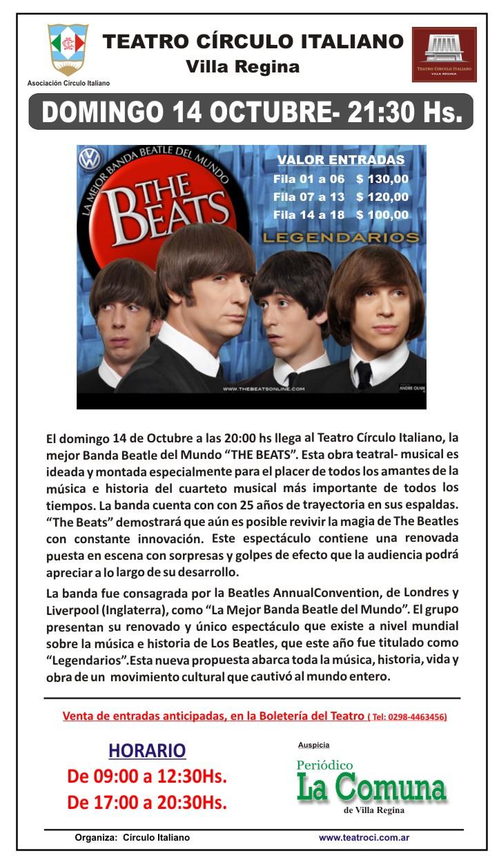 The Beats - Domingo 14 de Octubre - 20 hs
