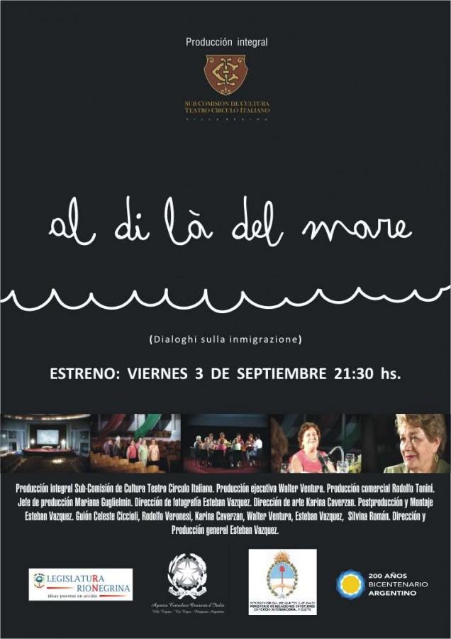 Afiche Documental - Al di la del mare - A4